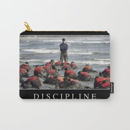 Discipline: Inspirational Quote and Motivational Poster Carry-All Pouch