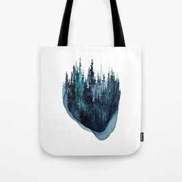 Turquoise Glow - Pine Forest Tote Bag
