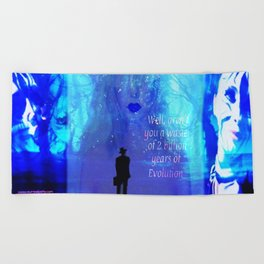 """""""Critical Mother Nature"""" by surrealpete Beach Towel"""