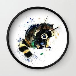 Raccoon - Splat Wall Clock