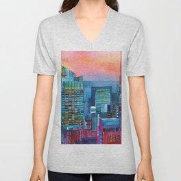 New York buildings vol2 Unisex V-Neck