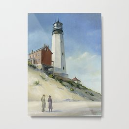Cape Henlopen Light Metal Print