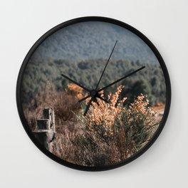 Rugged Fence Wall Clock