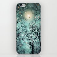 mint iPhone & iPod Skins featuring Nature Blazes Before Your Eyes (Mint Embers) by soaring anchor designs