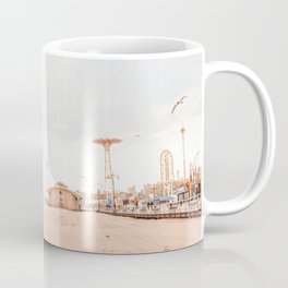 Coney Island Summer Time, New York, Beach Photography  Coffee Mug