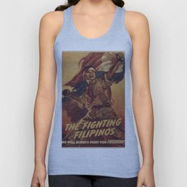 Vintage poster - The Fighting Filipinos Unisex Tank Top