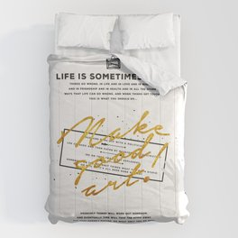 Make Good Art - Neil Gaiman Comforters