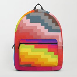 Pixel art rainbow Backpack