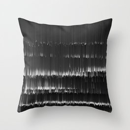 BLACK LAGOON - Abstract Digital Image Texture Glitch Art Throw Pillow