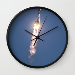 The Soyuz TMA-04M rocket launches from the Baikonur Cosmodrome in Kazakhstan Wall Clock