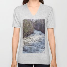 Swollen Creek Runs Wild Unisex V-Neck