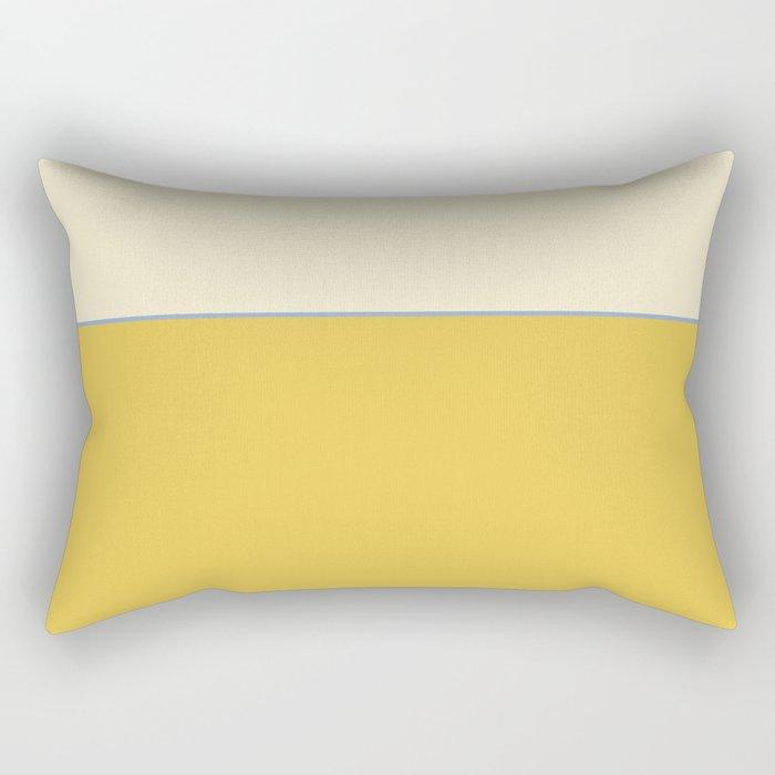 Warm Sunlight Color Block Rectangular Pillow
