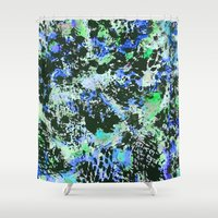 david fleck Shower Curtains featuring Crystal Fleck by Mia Felce