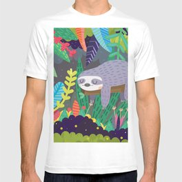 Sloth in nature T-shirt
