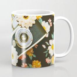 Floral Vintage Camera (Color) Coffee Mug
