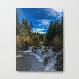 Butte Falls in the Fall Metal Print