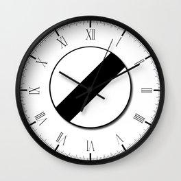 Derestriction Traffic Sign Wall Clock