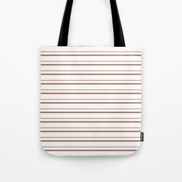 Sherwin Williams Cavern Clay Horizontal Line Pattern on White 3 Tote Bag