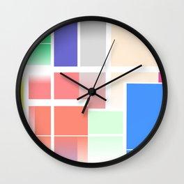 Abstract Colour Blocks Wall Clock