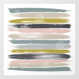 Fragments, Brushstrokes and Circles Art Print
