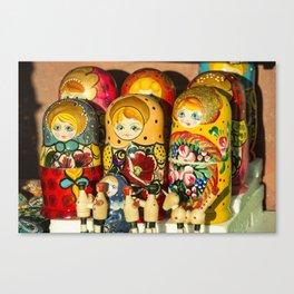 Russian Dollies  Canvas Print