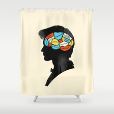Doctor Phrenology Shower Curtain