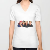 boys V-neck T-shirts featuring Boys by gabitozati