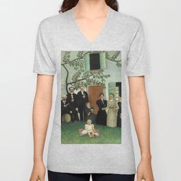 "Henri Rousseau ""The Family (La Famille)"" Unisex V-Neck"