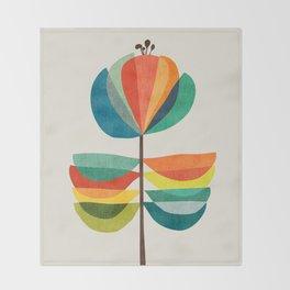 Whimsical Bloom Throw Blanket