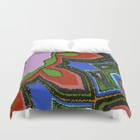 mosaic Duvet Covers featuring Mosaic by Awesome Palette