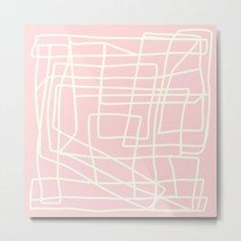 Lost Lines in Pink Metal Print
