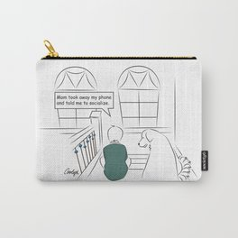 Get Off Your Phone and Socialize Carry-All Pouch