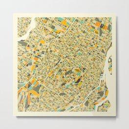 Montreal Map Metal Print