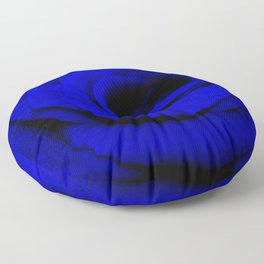 Expansion Blue rose flower Floor Pillow