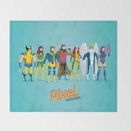 Pixel Mutants Throw Blanket