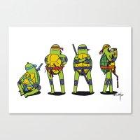 teenage mutant ninja turtles Canvas Prints featuring Teenage mutant ninja turtles by Nioko