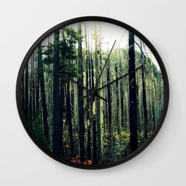 Desolate Forest Wall Clock