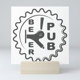Beer Pub Brewery Handcrafted style Fashion Modern Design Print! Mini Art Print