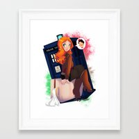 amy pond Framed Art Prints featuring Doctor Who - Amy Pond by Lucy Fidelis