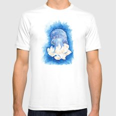 Floating White Mens Fitted Tee MEDIUM