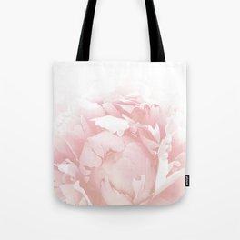 Beautiful Blush Cotton Peony Tote Bag
