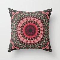 spiritual Throw Pillows featuring Spiritual Rhythm Mandala by Elias Zacarias