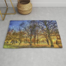 Greenwich Park London Art Rug