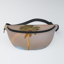 Palm Tree With Rainbow Fanny Pack