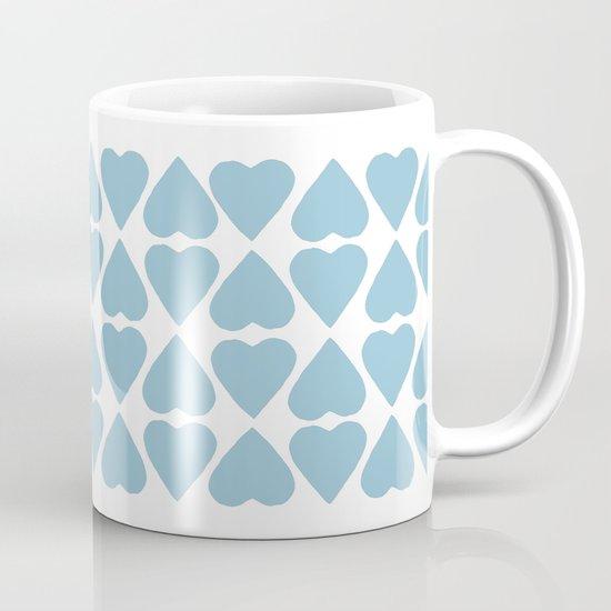 Diamond Hearts Repeat Blue Mug
