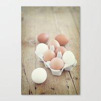 eggs Canvas Prints featuring Eggs by Luisa Morón-Fotografía