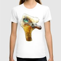 karu kara T-shirts featuring abstract ostrich by Ancello