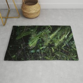 Wild tropical forest plants   Nature/ Botanical & Travel Photography in Bali Jungle- Dark & Green Rug
