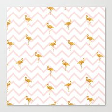Gold Flamingo Canvas Print