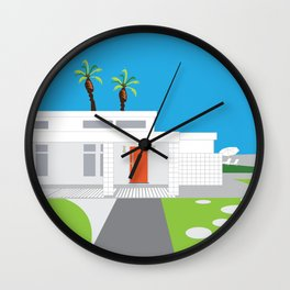 Palm Springs CA Mid-Century Modern House Wall Clock